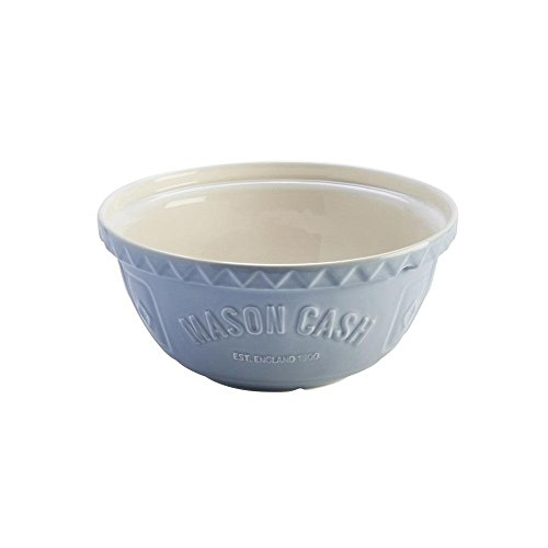 Pattern Cream Soup Bowl (Mason Cash Bakewell Earthenware Mixing Bowl, S12, 11-1/2-Inches, Blue, Cream)