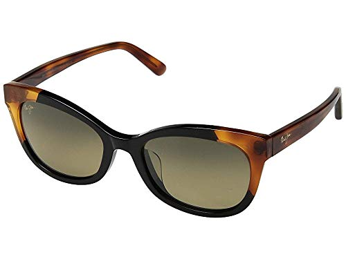 Maui Jim Ilima HS759-59B | Polarized Gloss Black with Bourbon Tortoise cateye Frame Sunglasses, with with Patented PolarizedPlus2 Lens Technology