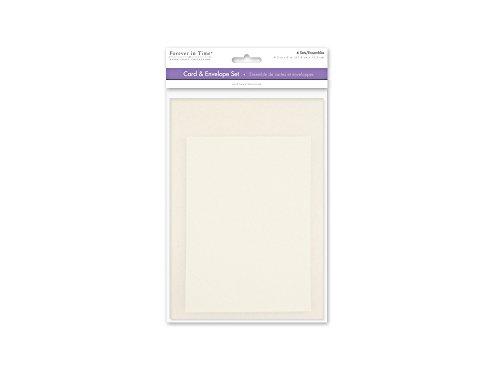 [해외]Forever in Time CM600A A6 Cards & Envelopes 6 Sets 4.5in x 6in Cream / Forever in Time CM600A A6 Cards & Envelopes, 6 Sets, 4.5in x 6in, Cream