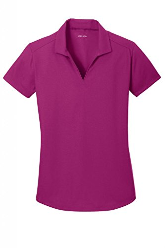 - Joe's USA(tm Ladies Moisture Wicking Textured Golf Polos in 12 Colors Magenta