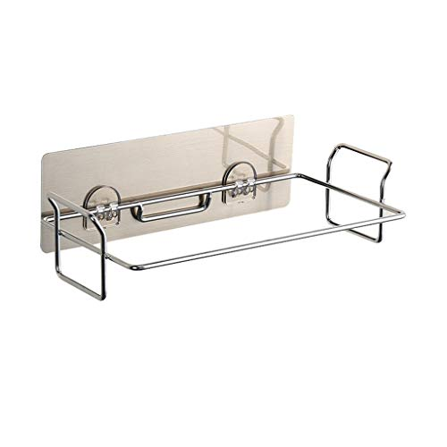 Stainless Steel Trash Rack Garbage Bag Holder Door Back Type Multi-functional for Kitchen Hook Hang Dishcloth, 2DXuixsh Mounts Over Cabinet Doors Cupboards Frame ()