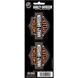 - CHROMA(TM) A PLASTICOLOR(R) COMPANY Harley Davidson 3x8 Bar & Shield 2-Piece Decal Set 99116H