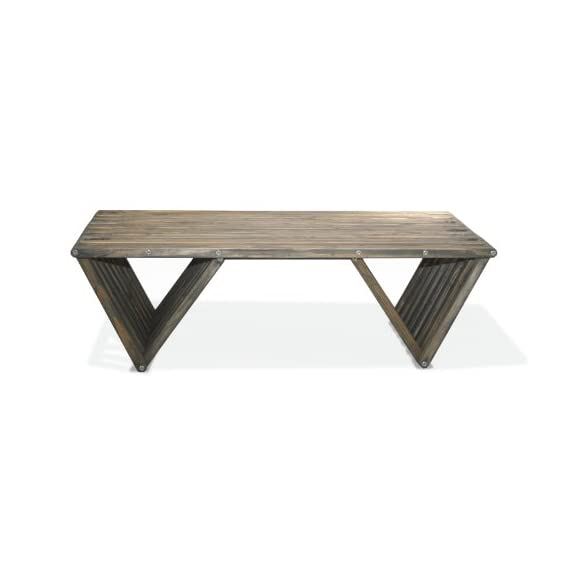 GloDea X90 Coffee Table, Wild Black - Modern Design Solid Wood Outdoor Stain sealer - patio-tables, patio-furniture, patio - 315tae1gC L. SS570  -