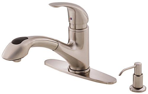 Danze melrose single handle pull out kitchen faucet for Danze inc
