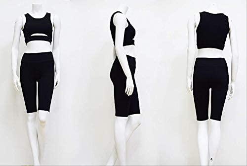 DSWVBGX Slim Yoga Shorts Set Women Sport Suit Sportswear ...