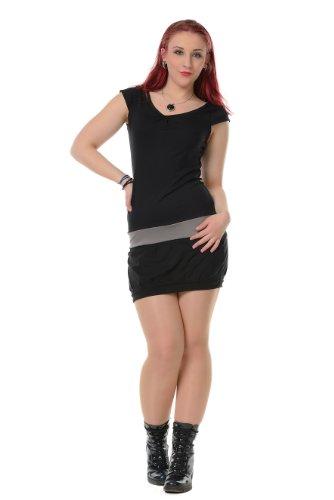 Dress Mini Dress Sleeveless Woman 3Elfen Party Ball Summer Clubwear black Grey aqpSwxT