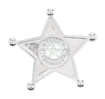 High Riding Western Party Sherriff Badge Favour, Plastic, 2