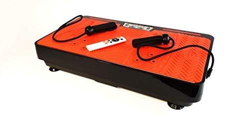 Ultraflache Vibrationsplatte mit Leisem Motor | 9 Trainings-Programme | Inkl. Fernbedienung, Trainingsbänder & Übungsposter