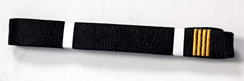 Shihan 4 DAN BAR Karate Black Belt Satin Embroidery 4 DAN BAR 320cm Length Kempo Kickboxing