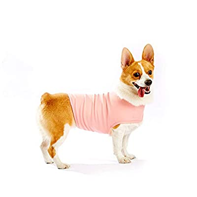 Furubaby Anxiety Dog Coat a Shirt Calm Down Dog Jacket for xs Small Medium Large XL Dogs   Solid Color Blue Gray Green Pink Thunder Dog Wrap(Pink)