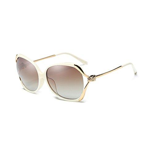 de Off Frame Rhinestones Sol Color Big polarizadas White Sunglasses Fashion Gafas TangMengYun Off Driving White 1ACqwx5Px