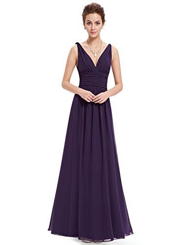 Dunkel EP09016PK08 Pretty Helles Violett Ever Kleid Damen Empire 6xawqqXY