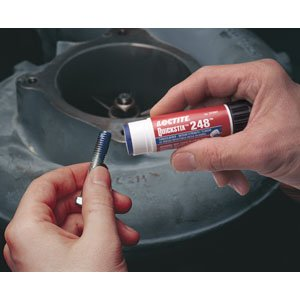 PART NO. LCP37684 Loctite 248, Semi-Solid Stick Medium Strength Blue Threadlocker, 9 gram Stick (Medium Threadlocker Stick Strength Blue)