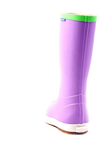 Luckers Womens Foldable Wellies Rain Boots A Purple mGrSSumbhe