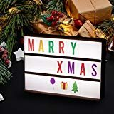 DIY A4 Cinematic LED Light Box with 322 Tiles Including Letters, Emoji and Numbers, USB or Battery Powered LED Marquee Lights for Home Wall Kid's Room Birthday Party and Wedding Decor