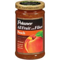 Polaner All Fruit Peach Fruit Spread W/Fiber, 10 Ounce