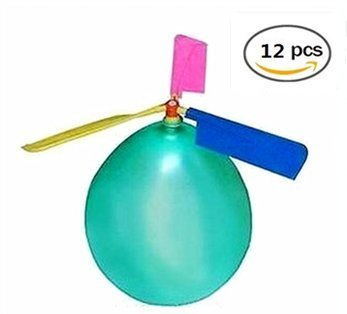 BAIVYLE Kids Toy Balloon Helicopter (12 pack)Children's Day Gift Party Favor easter basket, stocking stuffer or birthday! Fun Helicopter