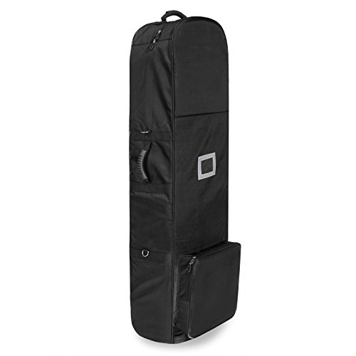 Golf Travel Bag PEATAO Padded Oxford Golf Club Travel Cover ,Black with Two Wheel (US STOCK) by PEATAO (Image #7)