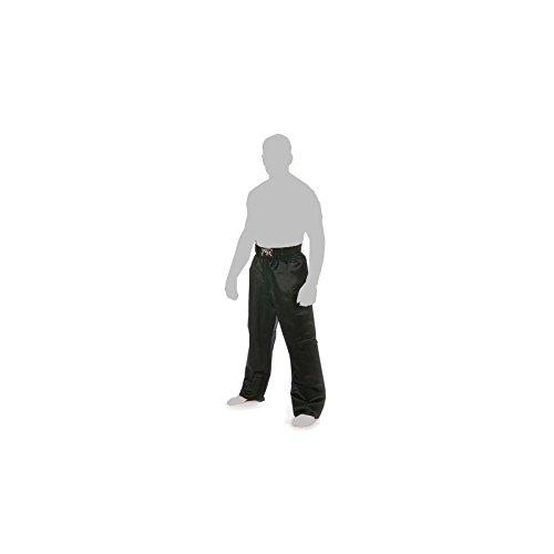 METAL BOXE - Pantalon Full Contact Tout Noir Satin Adulte