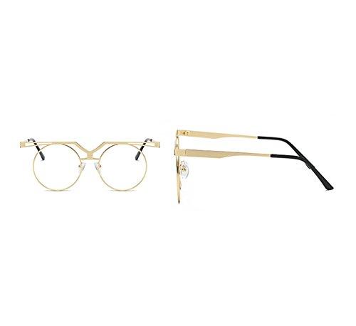 lunettes Vintage polarisé Lunettes Non soleil conduite Hop UV400 Ronde de Transparent Or Hip cadre Keephen Classique gqwH04w