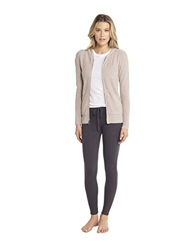 Barefoot Dreams CozyChic Lite Women's Zip-Up Hoodie, Faded Rose, Small
