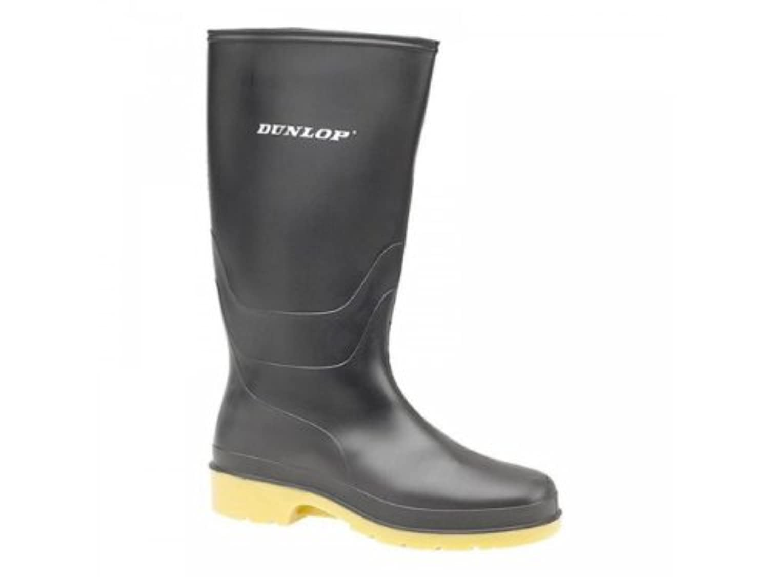 Dunlop DULL Girls Boys Junior Wellington Boots Black UK 1 (Junior)