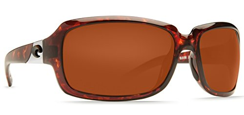 - Costa Del Mar Sunglasses - Isabela- Glass / Frame: Shiny Tortoise Lens: Polarized Copper Wave 580 Glass