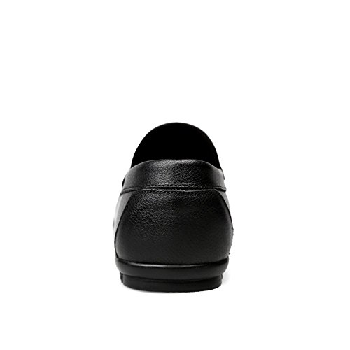 PU 6 stile UK mocassino ballerine Hollywood da mocassini Nero nbsp;uomo Nero 5 motivo Shufang uomo 2018 mocassini guida shoes nuovo 7a6RUa
