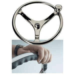Edson Marine Edson 14.5'' SS Comfort Grip Steering Wheel w/PowerKnob™ by EDSON CORPORATION (Image #1)