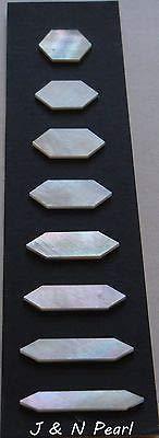 FidgetFidget Pearl Mother of Pearl Fingerboard Hexgon Inlay Set for Martin Style Guitars