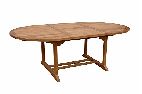 Anderson Teak Bahama Oval Extension Table Extra Thick Wood, 87-Inch -