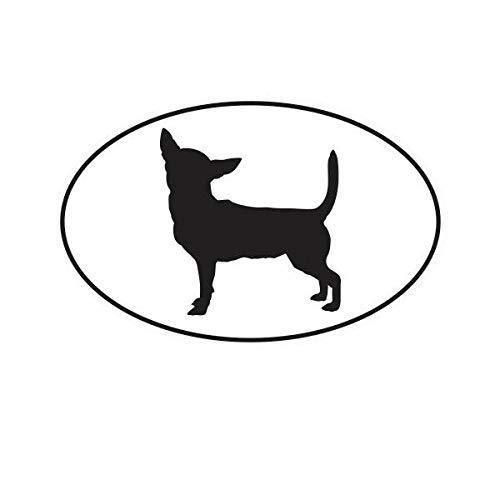 Morgan Graphics Chihuahua Euro Oval Sticker Decal Vinyl Dog Canine pet Vinyl Decal Sticker Car Waterproof Car Decal Bumper Sticker 5