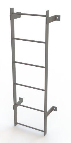 Tri-Arc WLFS0106 6-Rung Standard Uncaged Fixed Steel Ladder