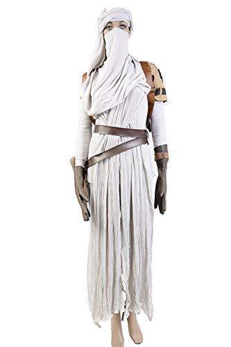 GOTEDDY Women Halloween Rey Cosplay Costume Tunic Dress Up Outfit (XXXL) ()