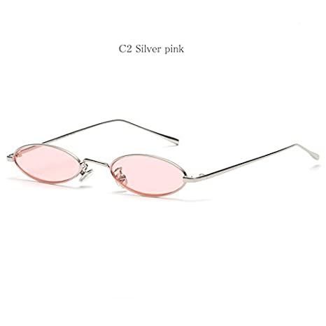 Amazon.com: Small Oval Cat eye Sunglasses for Women Retro ...
