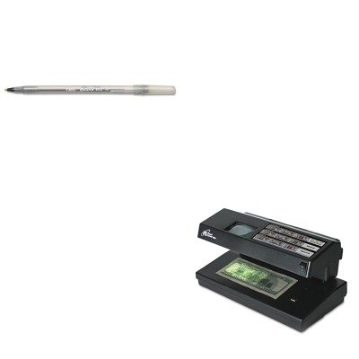 KITBICGSM11BKRSIRCD2000 - Value Kit - Royal Sovereign Portable 4-Way Counterfeit Detector (RSIRCD2000) and BIC Round Stic Ballpoint Stick Pen (BICGSM11BK)