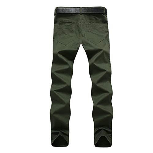 Di Per Ragazzo Libero Da Pantaloni Stoffa Lunghi Colori Moda Casual grün Chino Uomo Dritti Solidi Il Cotone Armee Tempo Trachtenhose x4q1w74gWX