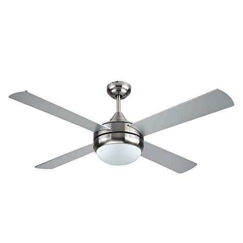 BLACK+DECKER BCF5252R Ceiling Fan, 52 in. in, Silver