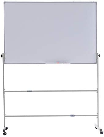 Liu- 磁気ホワイトボード、メタルフレームのモバイルブラケットタイプオフィスティーチングホーム黒板会議ライティングボード90×120センチメートルをシングル両面