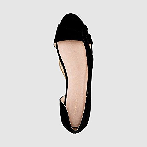 Aperte Ballerine Donna Larga Pianta Castaluna Taglia 45 Nero 3845 E4qxfn5