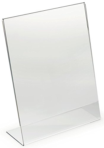 Dazzling Displays 3-pack Acrylic 8.5 x 11 Slanted Sign Holders