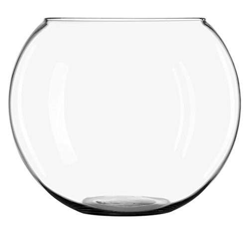 Hand Blown Glass Fish Bowl - CYS GBB107 Handblown Glass Jumbo Bubble Bowl Vase, H-14