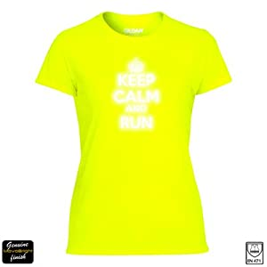 Reflective running t shirt ladies high visibility for Hi viz running shirt