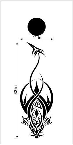Dragon Mythical Creature GOT コーンホールボードデカールステッカー グラフィックス 07 B07HRV3KF2