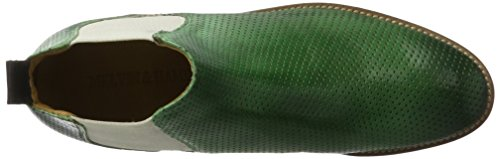 Melvin & Hamilton Women's Amelie 4 Chelsea Boots Green (Venice Perfo Sweet Green Ela. Off White Ls-nat. Venice Perfo Sweet Green Ela. Off White Ls-nat.) rWxaXgN