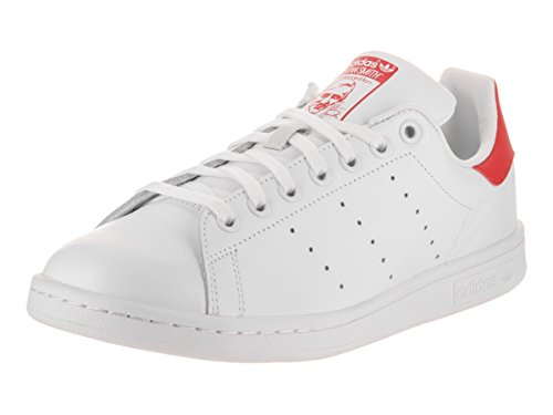Unisex Low Adults' Trainer adidas Originals White Smith Stan Red Top fv5wA