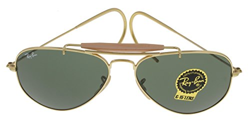 72e166f171 Amazon.com  Ray Ban Sunglasses Outdoorsman Aviator Unisex Browbar Enhanced  RB3030 L0216  Shoes