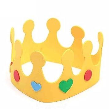 Príncipe y Princesa Corona niños Cumpleaños Sombrero: Amazon ...