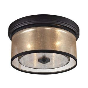 ELK Lighting 57025/2 Diffusion Collection 2 Light Flush Mount, 6 x 13 x 13