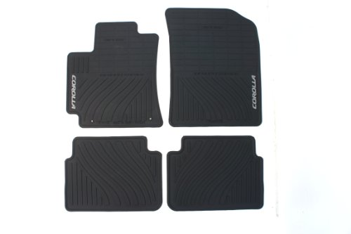 (Genuine Toyota Accessories PT908-02110-20 Front and Rear All-Weather Floor Mat - (Black), Set of 4)
